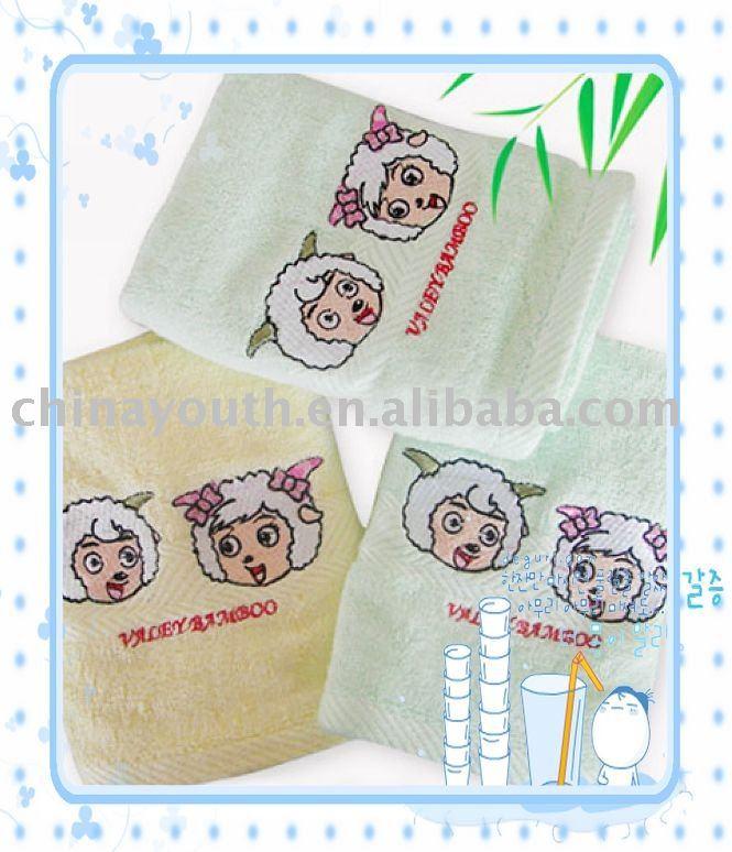 Wholesale Bamboo fiber face towel,washcloth,towel,30*65cm,YSSN-6033