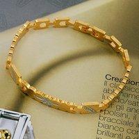Reloj pulsera, de cobre con oro de 18 quilates brazalete plateado, Link y Cadena (China (continental))