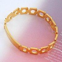 Reloj pulsera clásico, de cobre con oro de 18 quilates chapado en Link, y la cadena de pulsera (China (continental))