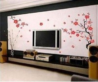 FREE SHIPPING ! fashion elegant Wall stickers /living room stickers,decal\Printed Wallpaper/wall decal,Arbitrary bloom