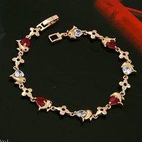 Pulsera de Delfín, pulsera de circonio cúbico, de cobre con oro de 18 quilates chapado en Link, y la cadena de pulsera, joyas de moda (China (continental))