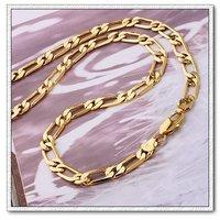 Envío Gratis, collar de hombres, de cobre con oro de 18 quilates chapado, joyería Collar, al por mayor y al por menor (China (continental))
