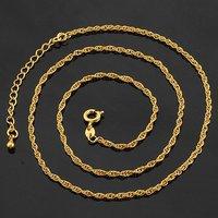 Envío Gratis, collar de moda de imitación, de cobre con baño de oro de 18 quilates, Collar, al por mayor y al por menor (China (continental))