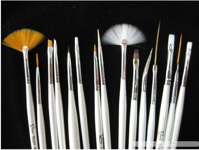 8 sets New 15pcs/set Nail Art Design Painting Pen Polish Brush Set