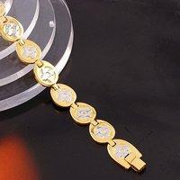 Moda reloj pulsera, de cobre con oro de 18 quilates chapado en Link, y la cadena de pulsera, joyas pulsera de moda (China (continental))