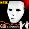 New Arrivals Hot Sale Hip-hop Men Women Jabba WockeeZ Full Face Party Masks Male Female White Masquerade dance masks for Ball