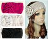 Hot Knitted Flower Headband Women 100% Handmade Crochet Hairband Winter Ear Warmer Headwrap