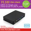 Free Shipping Latest RDP PC Thin Client FL100 Built-in Linux,MIC&SPK,HDMI,VGA,Support Windows 7/Linux Ubuntu Mini PC Station