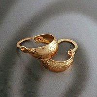Pendientes de Bisutería, de cobre con oro de 18 quilates chapado, pendientes de cobre, pendientes de aro, al por mayor y al por menor, envío gratis (China (continental))