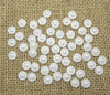 Free Shipping! 500Pcs White Semi-Circle Flower Pearl Kawaii Cabochon Resin Scrapbooking DIY Crafts Wedding & Home Decoration 9mm