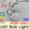 ON SALE 2x3W 5W E27 LED light bulb LED Globe Bulbs lamp 85-265V for home lighting lampada led e27,Freeshipping