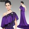 Dorisqueen 31130 in stocks one shoulder crystal elegant cheap Long train Formal purple applique elie saab evening dresses 2015