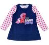NEW! Free shipping 5sets/lot my little pony printing denim sleeveless dress with polka dots long sleeve t shirt 2pcs set
