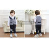 Spring And Autumn Boys Clothing Set Grid Shoocl Style Boy Suit Grey Top And BlackPants Free Shipping CS41115-5^^EI