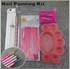 22Pcs/Set Professional Nail Painting Kit, Nail Polish Brush Tool Set + Free Shipping