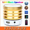 KH-52 Colorful LED Portable Wireless Bluetooth Speaker Aluminum Mini USB Flash Disk Sound Card Multi-Function FM Radio Speakers