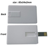 Free shipping: Cheapest 1000units1GB 2GB Credit card usb flash driver without color printing