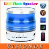 Aluminum Colorful LED Portable Wireless Bluetooth Speaker Metal Mini USB Flash Disk Sound Card Multi-Function FM Radio Speakers
