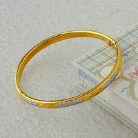 Envío Gratis, Pulsera, de cobre con oro de 18 quilates plateado, colores pulsera doble, Bisutería, pulseras, Wholse y al por menor (China (continental))