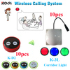 wireless waiter call system for chess room K-D2 button for client in the room and corridor light for waiter in the corridor