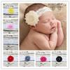 Freeshipping infant headband baby headband newborn lace headband with shabby flower pearl photo prop 500 pcs/lot