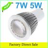 GU10 COB LED light Bulb Warm White 85-265V 5W 7W COB lamp light Spotlight LED Bulbs Energy Saving Convex