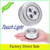 Cordless 3LEDs Stick Tap Touch Light Lamp AAA Battery Powered Wardrobe Cupboard Emergency Mini Night Lamp