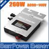 260W MPPT Grid Tie Micro Solar Inverter, 22~50V DC to AC 90~140V Pure Sine Wave Inverter Suitable for 200~300W 24V 36V PV Module