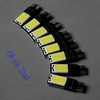 100 pieces/lot T10 canbus 194 168 2825 W5W wedge Backup Reverse lamp Sided 12smd T10 COB LED Car brake clearance Light