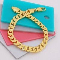 Pulsera con dijes, pulseras de cobre con baño de oro de 18 quilates, Link y la cadena de pulsera, joyas pulsera, pulsera al por mayor y al por menor (China (continental))