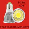 Free shipping 1pcs 9W 12W 15w E27 E14 GU10 COB MR16 GU5.3 B22 LED Spot Light Spotlight Bulb Lamp High power lamp 85-265V
