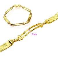 Reloj pulsera, de cobre con oro de 18 quilates chapado en pulsera, Link y la cadena de pulsera, joyas pulsera, pulsera al por mayor y al por menor (China (continental))