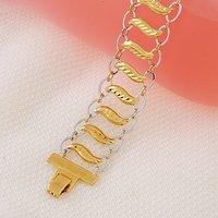 Colores Brazalete doble de cobre con oro de 18 quilates chapado en pulsera, Link y la cadena de pulsera, joyas pulsera, al por mayor y al por menor (China (continental))