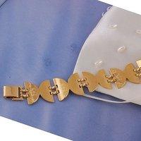 Pulsera del encanto, de cobre con baño de oro de 18 quilates brazalete, Link y Pulsera, joyas pulsera de moda, pulsera al por mayor y al por menor (China (continental))
