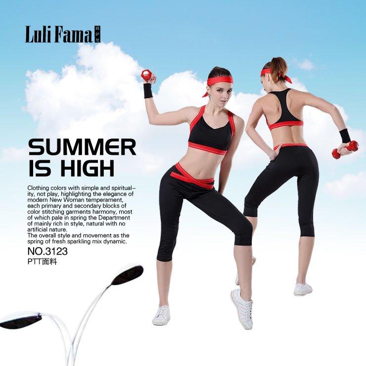 Trendy Ladies Gym and fitness training clothing(bra+capri pants)