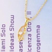 Collar libre, colgantes de la cadena de moda, de cobre con colgante chapado en 18K, Cubic zirconia collar y pendientes, al por mayor y al por menor (China (continental))