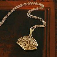 Libre de collar, colgante Allah, de cobre, con colgante plateado collar de 18 quilates, y de suspensión, al por mayor y al por menor (China (continental))
