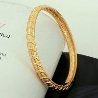 Pulsera de moda, con pulseras de cobre chapado en oro de 18 quilates, joyas pulsera de moda, Wholse y al por menor (China (continental))
