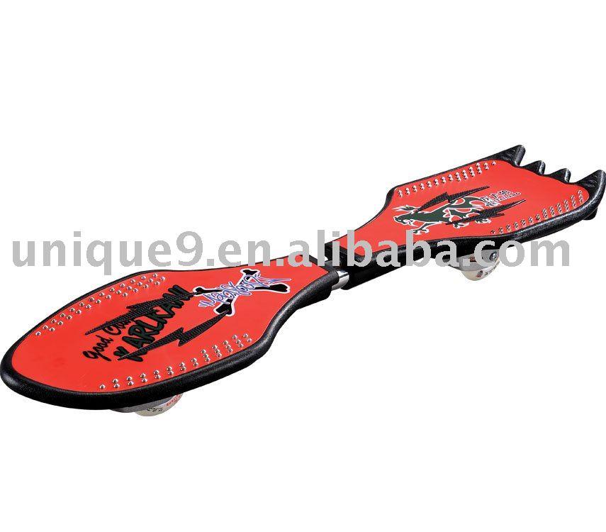 PP/ABS snake wave skateboard