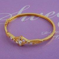 Circonita pulsera, brazalete CZ brazalete, brazalete de cobre con oro amarillo de 18K plateado, la pulsera de la Virgen, envío gratis (China (continental))