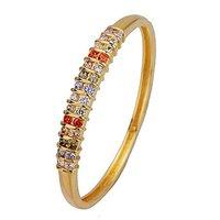 Circonita Bangle, CZ joyas Pulsera, brazalete de cobre con oro amarillo de 18K plateado, la pulsera de la Virgen, envío gratis (China (continental))