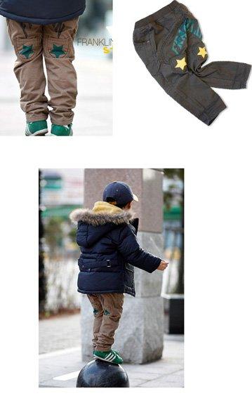 B2W2 Baby pants leisure Trousers star kids trousers children trousers LKL-010