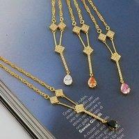 Envío Gratis, colgante, collar de moda, con el collar de cobre chapado en oro de 18 quilates, joyas Collar, al por mayor y al por menor (China (continental))