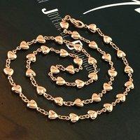 Envío Gratis, collar de imitación de modas, con el collar de cobre chapado en oro de 18 quilates, Collar, al por mayor y al por menor (China (continental))