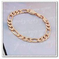 La cadena de moda pulsera, brazalete de cobre con baño de oro de 18 quilates, Link y la cadena de pulsera, brazalete de bisutería (China (continental))