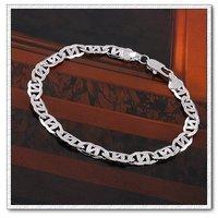 Simple pulsera, cadena de moda pulsera, brazalete de cobre chapado en platino con Link, y pulsera de cadena, joyería de moda pulsera (China (continental))