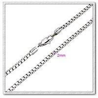 Moda collar de cadena, de cobre con collar de platino plateado, joyas Collar, Gastos de envío gratis (China (continental))
