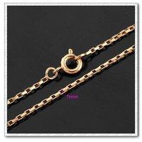 Moda collar de cadena, de cobre con collar de oro 18k, joyería collar, Gastos de envío gratis (China (continental))