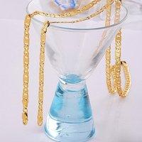 Moda collar de cadena, un collar largo, de cobre con oro de 18 quilates collar plateado, joyas Collar, Gastos de envío gratis (China (continental))