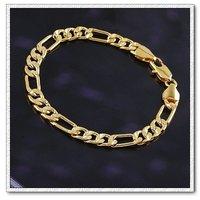 De cobre con oro 18k pulsera, brazalete de Enlace y de la cadena, joyas pulsera de moda, Gastos de envío gratis (China (continental))